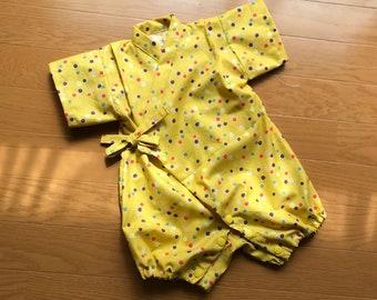 Baby kimono, baby rompers kimono, baby jinbei, ropmers jinbei