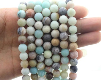 15%OFF Amazonite Beads Natural gemstone Round Beads ,multi color gemstones One Full Strand,stone Beads,Gemstone Beads----15-16 inches--NF322