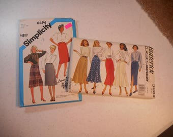 Womens' Skirt Patterns,  Multiple styles, NOS, Sizes 12-16