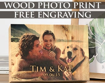Personalized Gift, Wedding Gift,Photo on Wood,Gift for Couple,Gift for Her,Custom Gift,Rustic Wedding Gift,Engagement Gift,Housewarming Gift