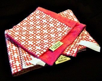 Geometric Fuchsia - Baby Blanket Swaddler and Security Blanket