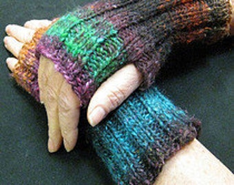 Hand Dyed Fingerless Gloves