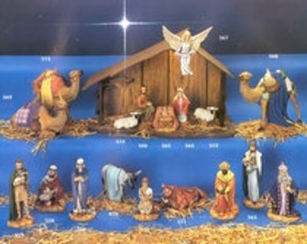 18 Piece Holland Large Nativity Set - Glazed with Clear /  Stable not Included