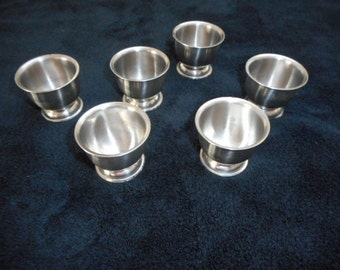 Stainless Steel Egg Cups, Made in Denmark, Set of Six, Breakfast Dining, Danish Modern, Kitchenware, Dining, Egg Holders, Egg Dish, Serving