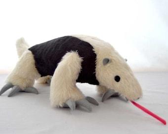 Tamandua plush - anteater teddy - cuddly toy anteater - softie tamandua - soft toy