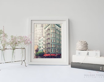 Zoetrope, San Francisco Photo, Architecture Photography, Green Building, Urban Decor Print, Beige, Sentinel Building, Large Wall Art, SF