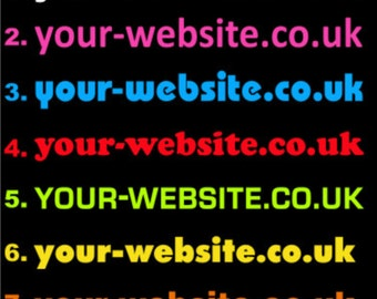 2 x Website Domain Name Stickers Decal - 60 cm x 7 cm - Promote Business - vehicle windows