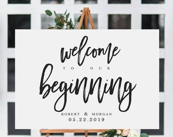 Free Welcome Sign Template Geccetackletartsco - Free wedding sign templates