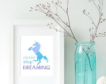 Unicorn Printable Art, Unicorn Party Sign, Unicorn Poster, Magical Unicorn Nursery Decor, Printable Wall Art Instant Download, Unicorn Baby