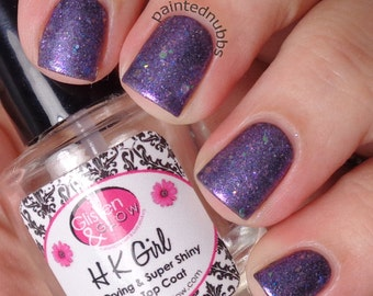 Frosted Sugar Plums - Custom Winter Interference Iridescent Glitter Nail Polish