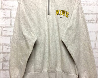 Rare...vintage Nike half zipper sweatshirt hip hop swag rap tees..size large