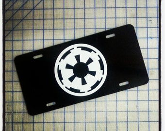 Star Wars Imperial Empire Cog / Crest Custom License Plate