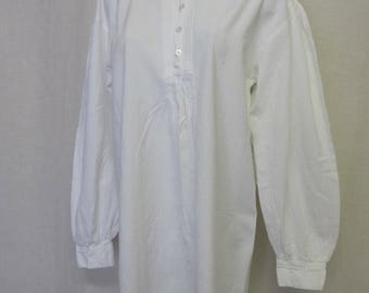 Peasant Dress Cotton Dress Peruvian White Cotton Dress Hippie Dress Resort Dress Medium