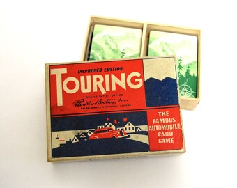 Touring Automobile Card Game by Parker Brothers, 1937 Edition