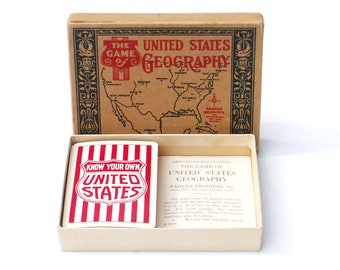 The Game Of United States Geography Parker Brothers