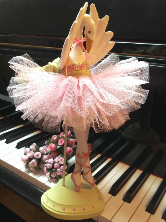 Swan Lake - Mailed Cloth Doll Pattern Beautiful 12in Swan Bird Ballerina