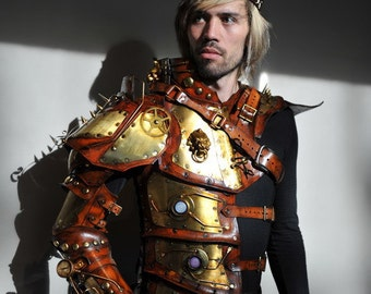 Emperors Armor of Empowerment - Steampunk Full arm half torso