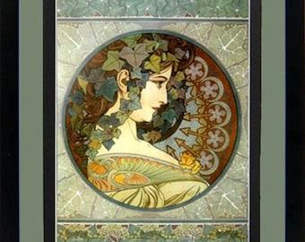 """Mucha Poster """"La Lierre"""" Art Nouveau Framed Art Nuveau Print"""