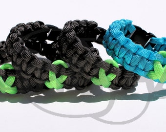 Lyme Disease Lymphoma Muscular Dystrophy LIME Awareness Ribbon 550 Paracord Survival Strap Bracelet Anklet with Buckle