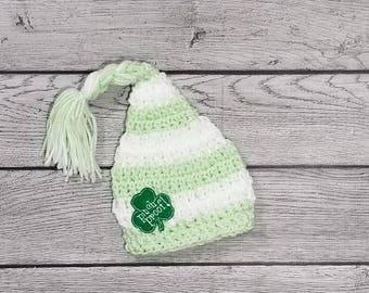 Shamrock Hat - Pinch Proof -Newborn Shamrock Hat - Newborn St Pats- Saint Patrick's Day - Baby Shamrock Hat - Baby Prop Hat