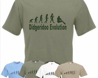 Evolution To Didgeridoo t-shirt Funny Didjeridu T-shirt sizes Sm TO 2XXL