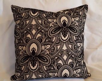 "20"" x 20"" Cushion Black, Grey and Beige"