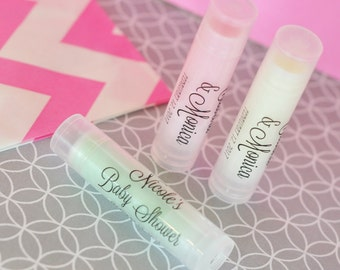 Baby Shower Lip Balm Favors Unique Baby Shower Favors Personalized Lip Balm Favor Custom Lip Balm Spa Baby Shower- 20  pc (EB3031CL)