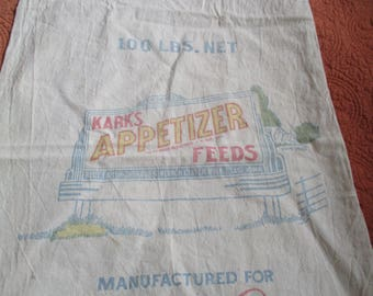 Vintage Advertising Feed Sack
