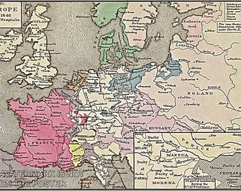 Poster, Many Sizes Available; Europe In 1648.-Peace Of Westphalia 30 Years War