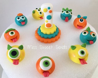 Monster Toppers, Monster Cake Toppers, Monster Cupcake Toppers