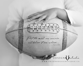 Graduation Gift - Sports Quote, Football Quotes, Football Art Print, Gifts for Him, Encouragement, Motivation, Inspiration - Sport Artwork