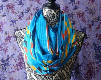 Kitenge Infinity Scarf, African Print Mobius Scarf, Ankara Snood Scarf, Wax Print, Kente Fabric, Batik, Scarves, Gele