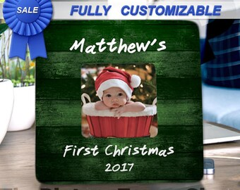 Custom Christmas Baby Picture Frame Baby First Christmas Personalized Baby Frame Personalized Christmas Baby Frame My First Christmas Frame