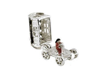 Sterling Silver Opening Gypsy Caravan Charm For Bracelets