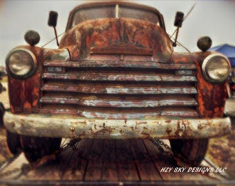 old chevy truck photography print, gifts for men,mancave