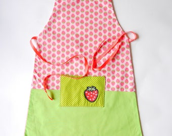 "Girl apron ""Strawberry"""