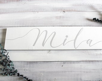 Baby Name Sign, Personalized Baby Name Sign, Baby Shower Gift, Nursery Wall Decor, Baby Name Sign Rustic, Wooden Baby Name Sign