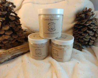 Aromatherapy Sugar Scrub Lemon, Sage and Ginger energizing