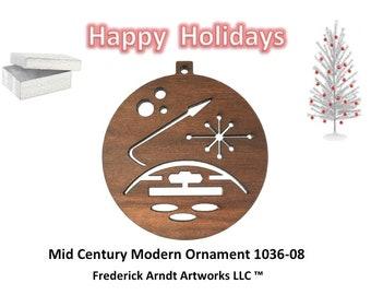 1036-8 Mid Century Modern Christmas Ornament