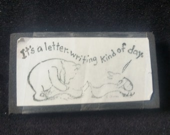 It's a letter writing kind of day Winnie the Pooh Piglet Used Rubber Stamp