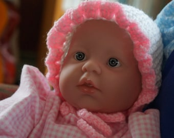 DOWNLOAD TODAY Round Baby Bonnet for 3-6 months - Easy Pattern