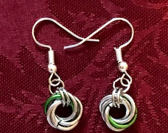 Mobius Rings Chainmaille Earrings