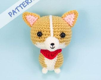 Corgi Crochet Pattern - Corgi plush pattern -Amigurumi dog pattern