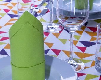 2 fabric Napkins, 40 x 40 cm, with Dekosaum, green