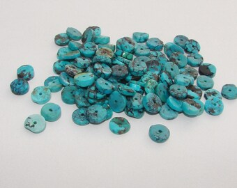Marbled turquoise slice of 3.00 by 8.00 mm.