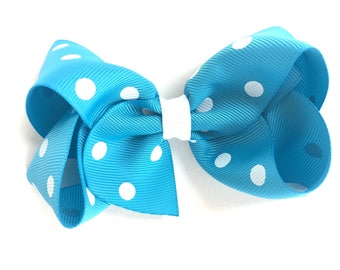 Turquoise hair bow - hair bows, hair bows for girls, toddler hair bows, big hair bows, boutique hair bows, girls hair bows, bows, baby bows