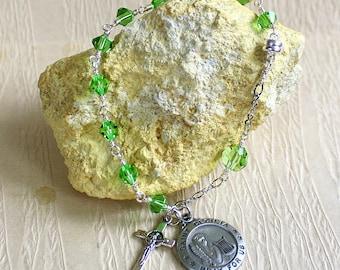Saint Cecilia Bracelet - Religious Jewelry - Rosary Bracelet