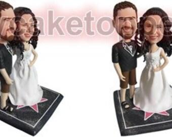 Custom wedding Cake Topper bobble head sculpture gift