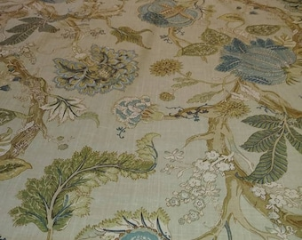 Tan with floral pattern fabric