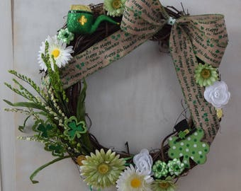 Happy St. Patrick's Day Wreath
